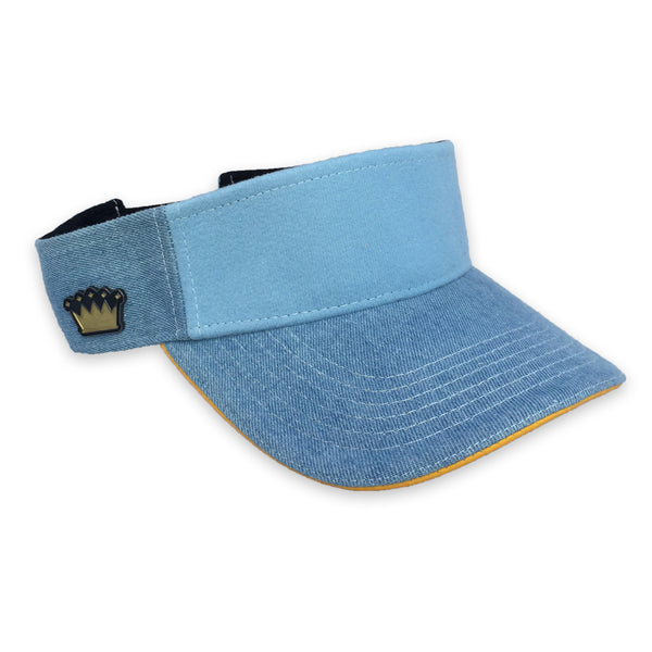Velcro Visor Cap in Denim (includes 1 x Velcro Patch) #capbuilder