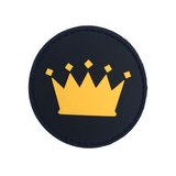 Crown Logo Black PVC Velcro Patch (CapSlap)