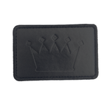Crown Logo Debossed Leather Velcro Patch (CapSlap)