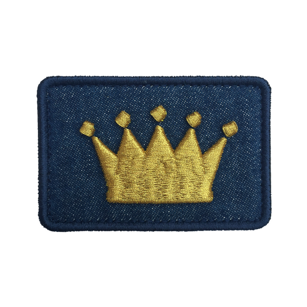 Crown Logo Dark Denim Velcro Patch (CapSlap)