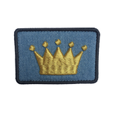 Crown Logo Light Denim Velcro Patch (CapSlap)