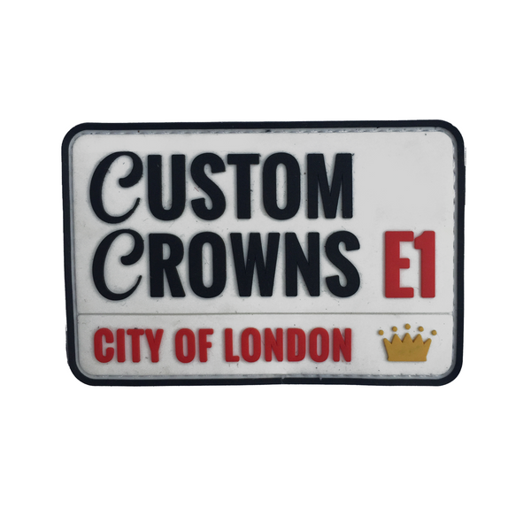 Custom Crowns Street Sign Velcro Patch (CapSlap)