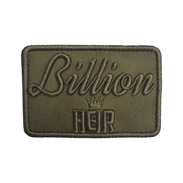 Billion Heir Script Olive Suede Velcro Patch (CapSlap)