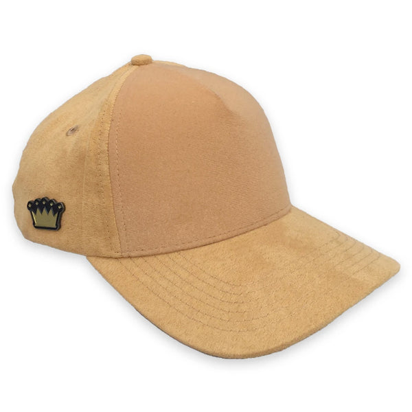 Velcro Baseball Cap in Tan Suede (includes 1 x Velcro Patch) #capbuilder