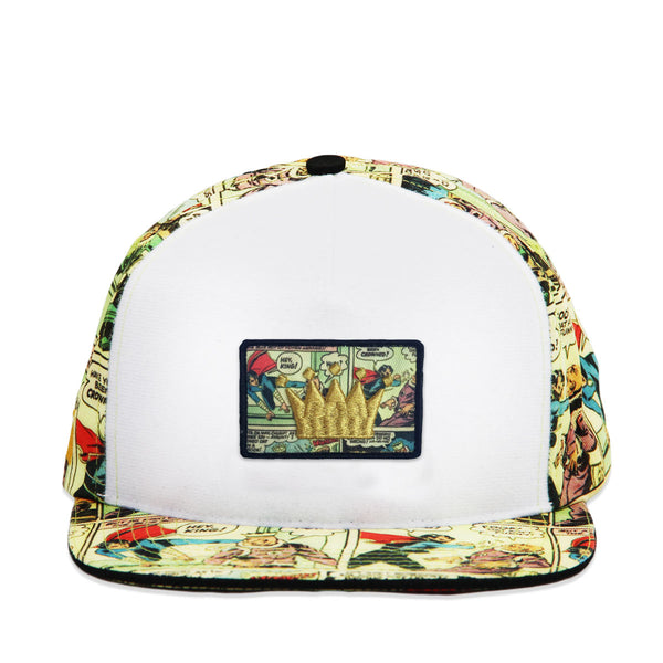 Velcro Baseball Cap with Vintage Comic Print (includes Comic Velcro Patch)