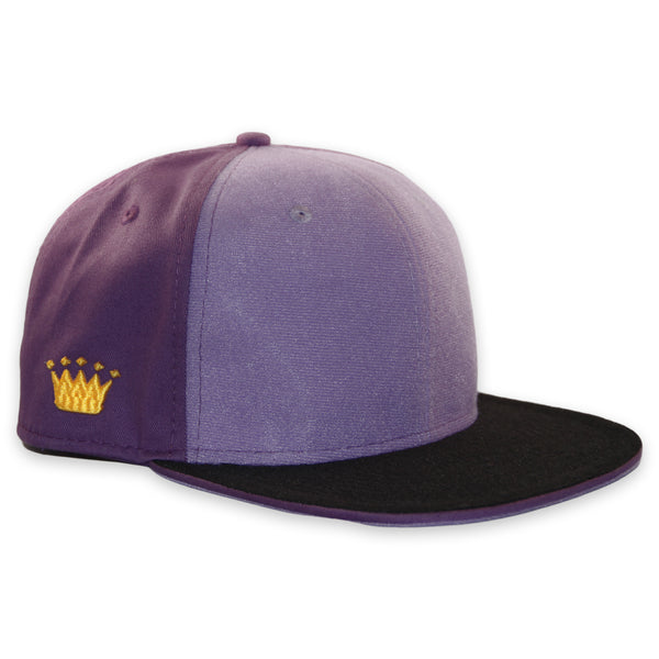 Velcro Snapback Cap in Purple (includes 1 x Velcro Patch) #capbuilder