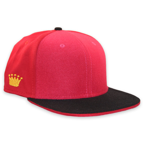 Velcro Baseball Cap in Red (includes 1 x Velcro Patch) #capbuilder