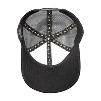 Velcro Baseball Cap in Black & White (includes 1 x Velcro Patch) #capbuilder