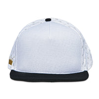 Velcro Baseball Cap in White with CC Repeat Logo Print (includes 1 x Velcro Patch) #capbuilder