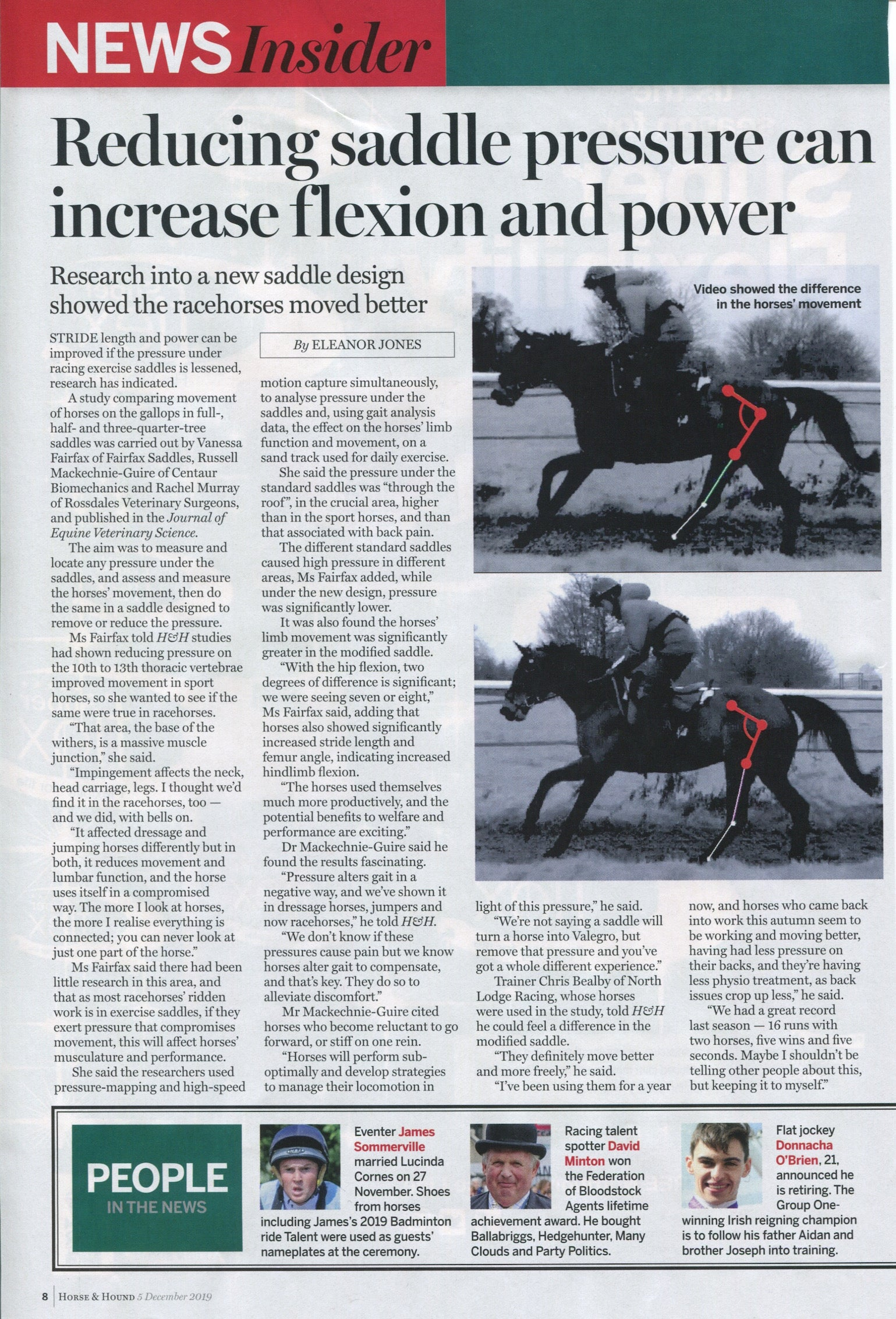 Horse & Hound Article December 2019