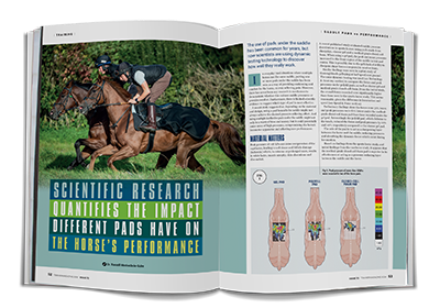 Trainer magazine saddle pad research