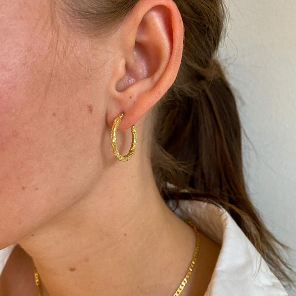 Melted Hoops 18K Guldbelagt