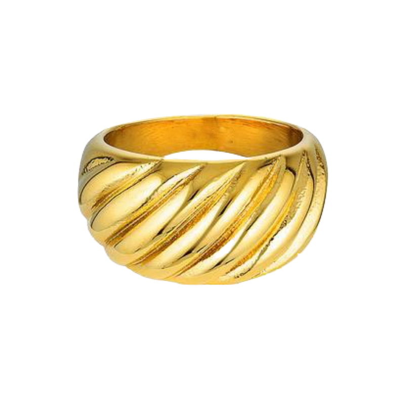 Twist Dome Ring 18K guldbelagt
