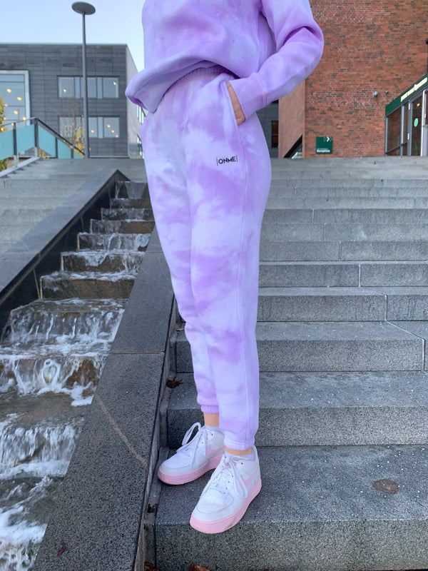 Purple Cloud Bukser - Lilla Tie-Dye