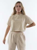 Basic Beige Cropped Tee