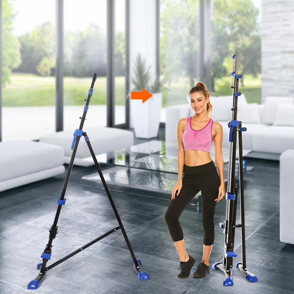 2 In 1 Digital Display Foldable Vertical Climber Climbing Machine Exercise Training Cardio Stepper Fitness Workout Gym Equipment