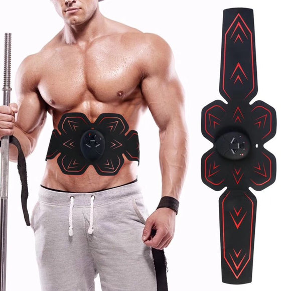 Abdomen Muscle Massager Training Body Shape Fit Set ABS Six Pad Massage Trainer Sticker Controlle