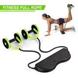 Ab Roller Wheel Multi-functional Abdominal Muscle Trainer Fitness Body Building Arm Waist Leg Exercise Pull Rope Fitness Machine