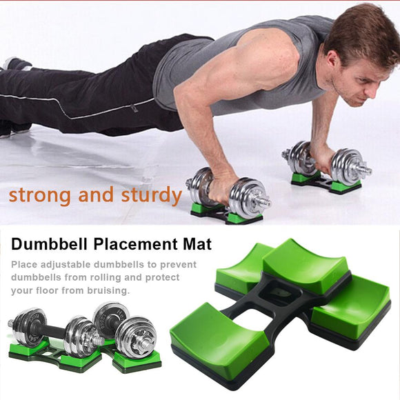 1Pair Weight Lifting Dumbbell Bracket Dumbbell Placement Frame Stand Floor Protection Fitness Training Device For Household