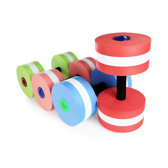 1 Pair Aquatic Fitness Barbells Foam Dumbbells Hand Bar Pool Exercise Detachable Water Exercise Detachable
