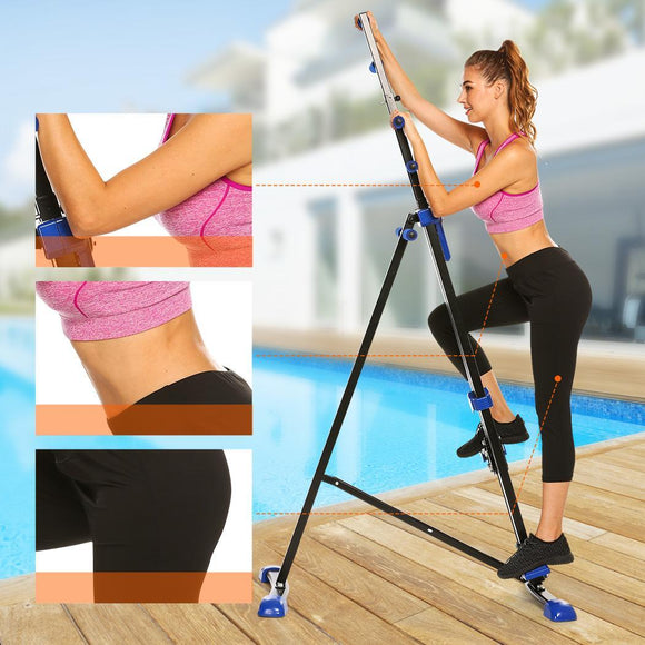 Digital Display Climber Climbing  Foldable Vertical Machine Exercise Training Cardio Stepper Fitness Workout Gym Home Equipment