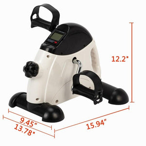 W002E Portable Home Use Hands And Feet Trainer Mini Exercise Bike White Cycling Trainer Home Fitness Equipment For Men Women