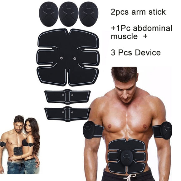 EMS Muscle Stimulator Trainer Smart Fitness Abdominal Training Stimulator Body Shaping Slimming Belt Unisex Stickers Accessories