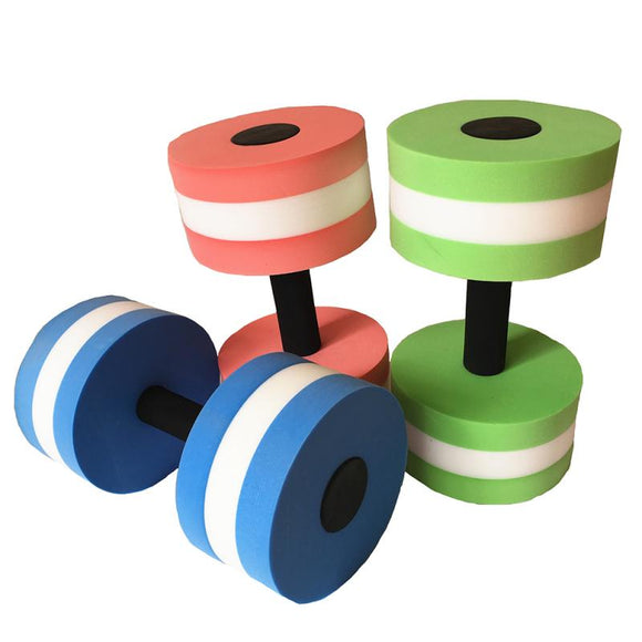 1Pcs EVA Water Aquatics Aerobics Dumbbell Weights Swimming Fitness Pool Exercise Workout Medium Aquatic Barbell Fitness Training