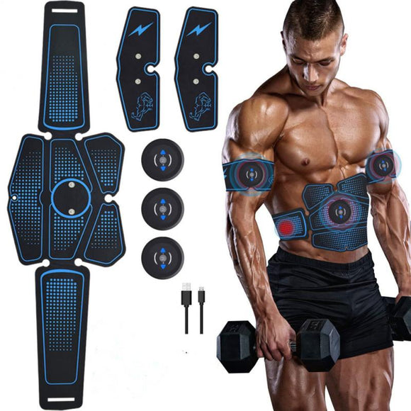 3 In1 Smart EMS Fitness Belt Abdominal Muscle Stimulator TrainerTraining Gear Muscles Electrostimulator Suit Stimulator