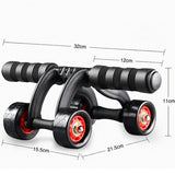 4 Wheel Power Abdominal Muscle Exercise Wheel Roller Belly/Waist Workout Fitness Gym Exercise Body Building Training Kit