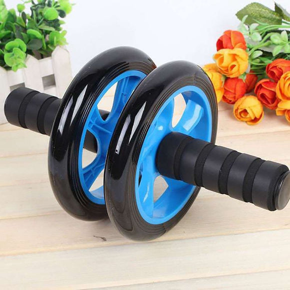 2019 Multifunctional Double-wheeled Abdomen Roller Trainer Exerciser Muscle Anti-slip Training Wheel Abdominal Exercises