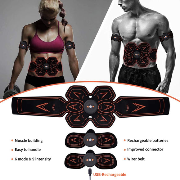 Electric Abdominal Muscle Stimulator Body Waist Trainer Fitness Slimming Belt Weight Loss Massager Fitness Equipment