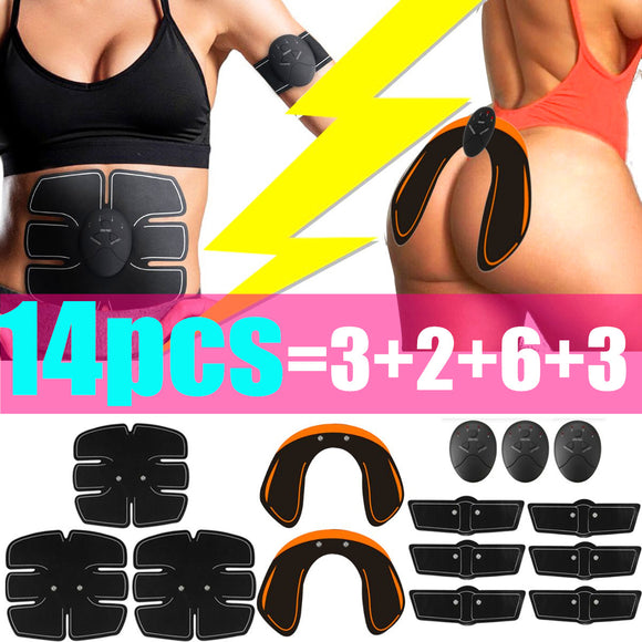 14pcs Muscle Stimulation Training Hip Buttock Lifting Muscle ABS  Smart Fitness Workout Body Shaper Electric Muscle Training