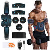 Muscle Stimulator Waist Belt Arm Leg Hip Band Portable USB Rechargeable Fitness Machine Abdominal Exerciser Training Device Tool