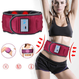 Electric Body Vibrating Slimming Belt Heat Function Massage Full Body Massager Weight Loss Rejection Fat Burning Machine