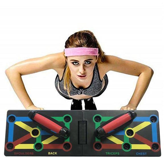 New Style Upgrade 12 in 1 Push Up Rack Foldable Board Train Fitness Support Board Exercise Stands Fitness Equipment essential