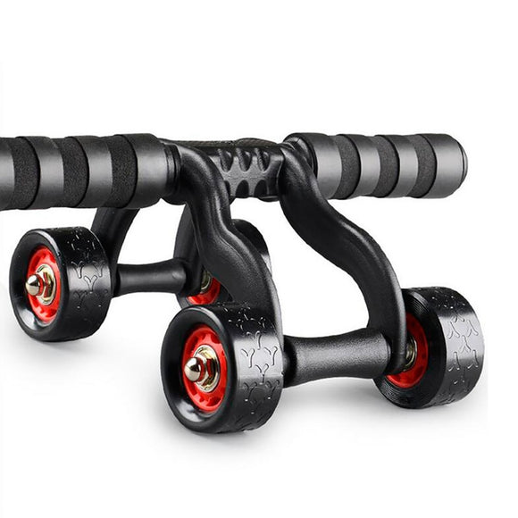 Exercise Roller Wheel Belly/Waist Workout Fitness Gym Exercise Body Building Training Kit 4 Wheel Power Abdominal Muscle