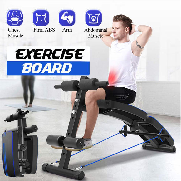 Multifunctional Sit Up Abdominal Board abdominal Exerciser Equipments Training Muscles Fold Dumbbell Fitness Machines Home