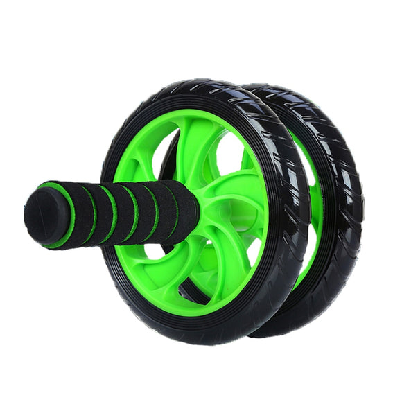 2018 New Green Abdominal Wheel Ab Roller With Mat For Exercise Fitness Gym Equipment Accessory fitness equipment gym XNC
