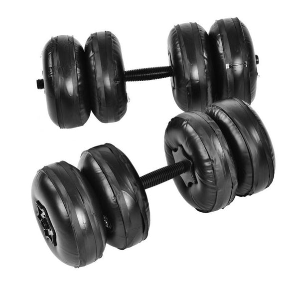 Men Metal Dumbbell Body Building Women Adjustable Anti-leak Water Inflated PVC Wight Dumbell Set Fitness Equipments