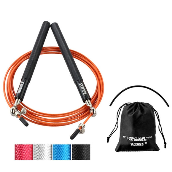 High quality Fitness Steel Wire Aluminum Alloy Jump Rope Racing Jumping Weight Skip Ropes Body Building dropshipping