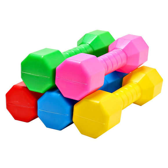 Hot Sale 2 PCS Children Dumbell Outdoor Plastic Fitness Equipment Kids Performance Dancing Tool Sport Exercise Toy Dropshipping