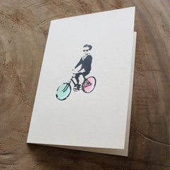 KID ON A BIKE - Stencil & Screen Print
