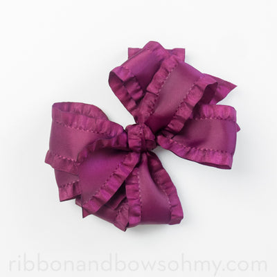 Double Ruffle Boutique Bow Tutorial (video)