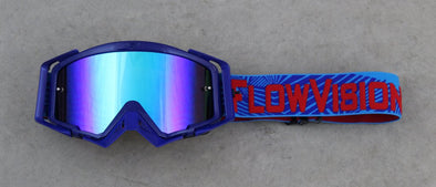Goggles Rythem Haze Blue Cyan Red