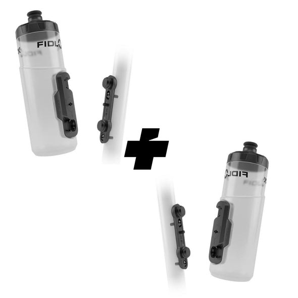 Combo x 2 kits magnéticos de botella FIDLOCK Twist 600ml, Clear