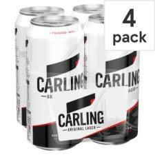 Carling lager 4 x 500ml can