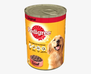 Pedigree Tin Dog Food with loaf