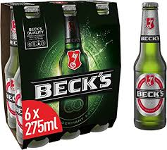 Becks lager 6x275ml bottle