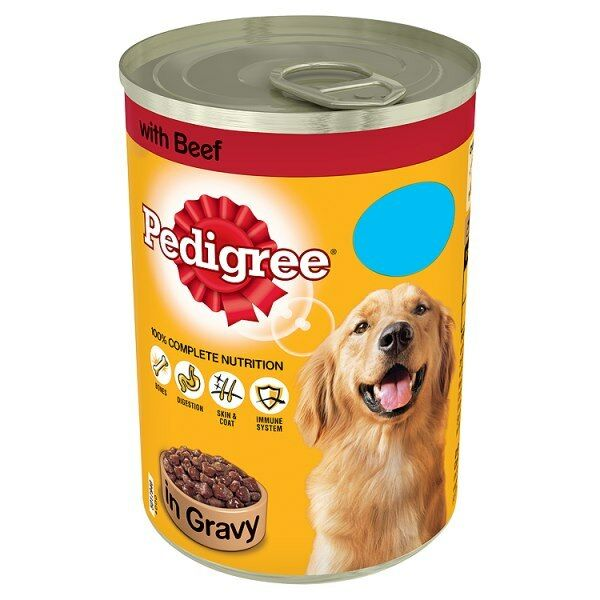 Pedigree Tin Dog Food in gravy